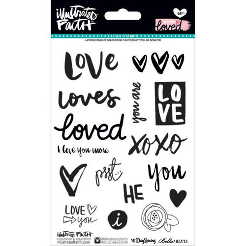 Bella Blvd - Illustrated Faith - You are Loved Collection - Clear Acrylic Stamps