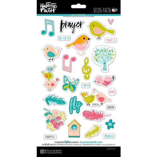Bella Blvd - Illustrated Faith - Seeds of Faith Collection - Puffy Stickers - Icons