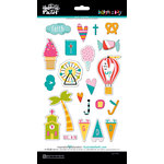 Bella Blvd - Illustrated Faith - Delight in His Day Collection - Puffy Stickers - Icons