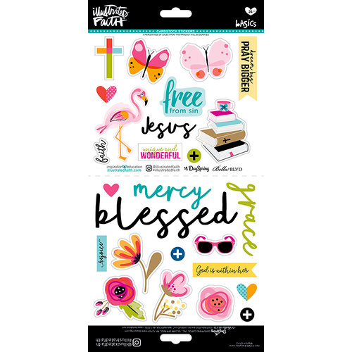 Bella Blvd - Illustrated Faith - Cardstock Stickers - Everyday Icons