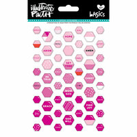 Bella Blvd - Illustrated Faith - Epoxy Stickers - Mini Hexies - Bless Her Heart Mix
