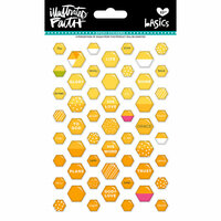 Bella Blvd - Illustrated Faith - Epoxy Stickers - Mini Hexies - Bananas For You Mix