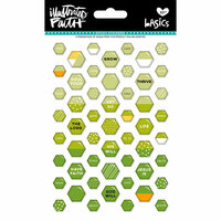 Bella Blvd - Illustrated Faith - Epoxy Stickers - Mini Hexies - Olive You Mix