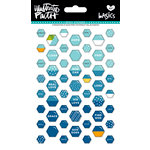 Bella Blvd - Illustrated Faith - Epoxy Stickers - Mini Hexies - Mrs. Blueberry Mix