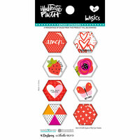 Bella Blvd - Illustrated Faith - Epoxy Stickers - Hexies - Apple of My Eye