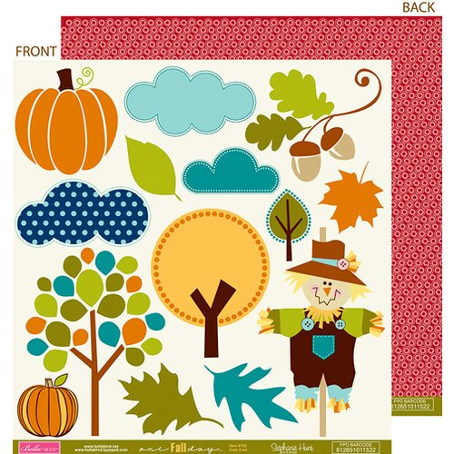 Bella Blvd - One Fall Day Collection - 12 x 12 Double Sided Paper - Cute Cuts, CLEARANCE