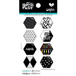 Bella Blvd - Illustrated Faith - Epoxy Stickers - Hexies - Black Eyed Pea