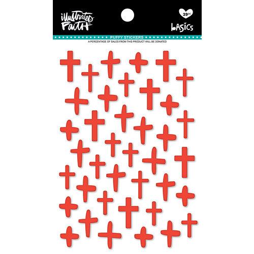 Bella Blvd - Illustrated Faith - Puffy Stickers - Crosses - Apple of My Eye