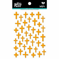Bella Blvd - Illustrated Faith - Puffy Stickers - Crosses - Practice What You Peach