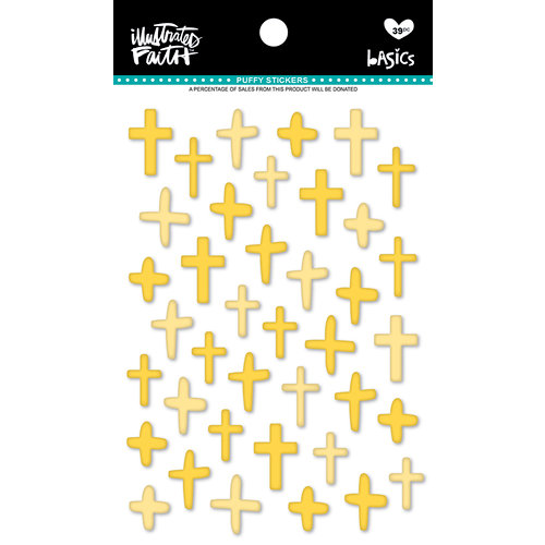 Bella Blvd - Illustrated Faith - Puffy Stickers - Crosses - Bananas For You