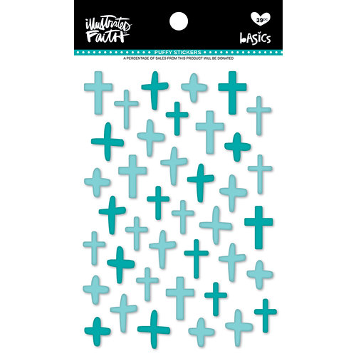 Bella Blvd - Illustrated Faith - Puffy Stickers - Crosses - Oh My Heavens Mix