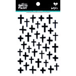 Bella Blvd - Illustrated Faith - Puffy Stickers - Crosses - Black Eyed Pea