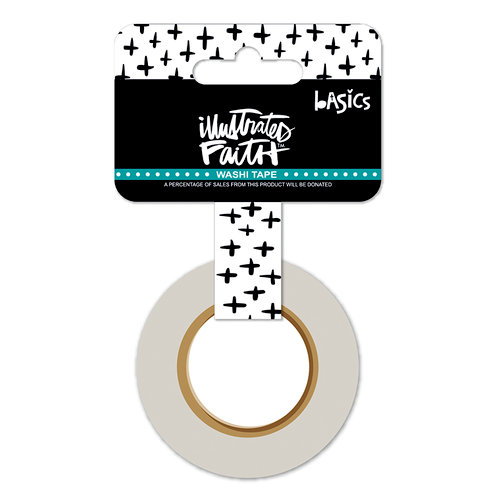 Bella Blvd - Illustrated Faith - Washi Tape - Criss Cross - Black