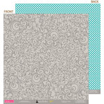 Bella Blvd - Socialite Collection - 12 x 12 Double Sided Paper - Tango