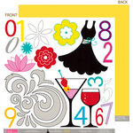 Bella Blvd - Socialite Collection - 12 x 12 Double Sided Paper - Cute Cuts