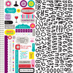 Bella Blvd - Socialite Collection - 12 x 12 Cardstock Stickers - Alphabet and Bits