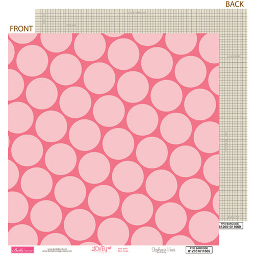 Bella Blvd - Lovey Dovey Collection - 12 x 12 Double Sided Paper - Bear Hugs