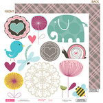 Bella Blvd - Lovey Dovey Collection - 12 x 12 Double Sided Paper - Cute Cuts