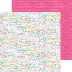 Bella Blvd - Illustrated Faith - Gratitude Documented Collection - 12 x 12 Double Sided Paper - Thank You Note