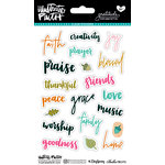 Bella Blvd - Illustrated Faith - Gratitude Documented Collection - Clear Stickers