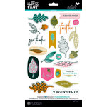 Bella Blvd - Illustrated Faith - Gratitude Documented Collection - Chipboard Stickers - Icons