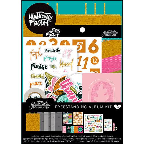 Bella Blvd - Illustrated Faith - Gratitude Documented Collection - 30 Days of Thankful Freestanding Album Kit