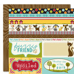 Bella Blvd - Tail Waggers and Cat Naps Collection - 12 x 12 Double Sided Paper - Borders N' Blocks