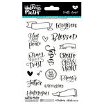 Bella Blvd - Illustrated Faith - Faith Over Fear Collection - Clear Acrylic Stamps