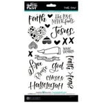 Bella Blvd - Illustrated Faith - Faith Over Fear Collection - Chipboard Stickers - Icons