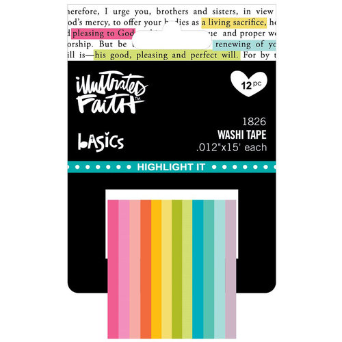 Bella Blvd - Illustrated Faith - Basics Collection - Highlighter Washi Tape