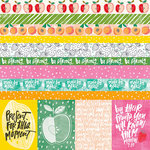 Bella Blvd - Illustrated Faith - Fruit of the Spirit Collection - 12 x 12 Double Sided Paper - Borders and 3 x 4