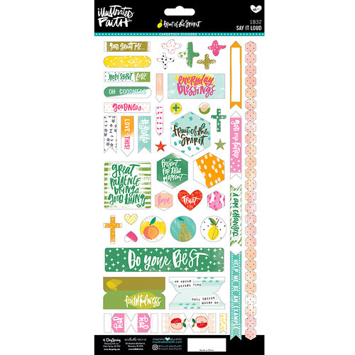 Bella Blvd - Illustrated Faith - Fruit of the Spirit Collection - Cardstock Stickers - Say It Loud