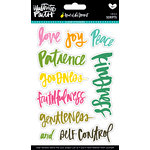 Bella Blvd - Illustrated Faith - Fruit of the Spirit Collection - Clear Stickers - Scripts