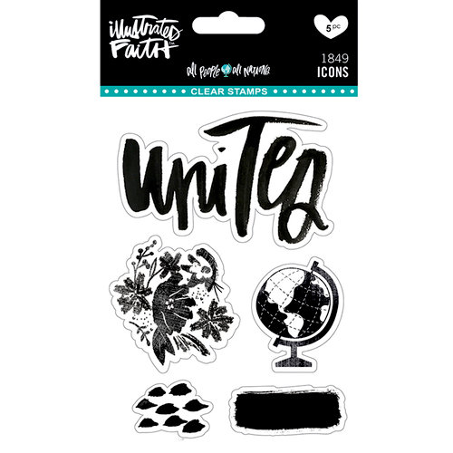 Bella Blvd - Illustrated Faith - All People All Nations Collection - Clear Acrylic Stamps - Icons