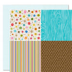 Bella Blvd - Family Dynamix Collection - 12 x 12 Double Sided Paper - Quadrants