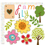 Bella Blvd - Family Dynamix Collection - 12 x 12 Double Sided Paper - Cute Cuts