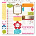 Bella Blvd - Family Dynamix Collection - 12 x 12 Cardstock Stickers - Just Write