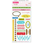 Bella Blvd - Family Dynamix Collection - Ciao Chip - Self Adhesive Chipboard - Chit Chat