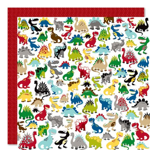 Bella Blvd - Mr. Boy Collection - 12 x 12 Double Sided Paper - Dinomite