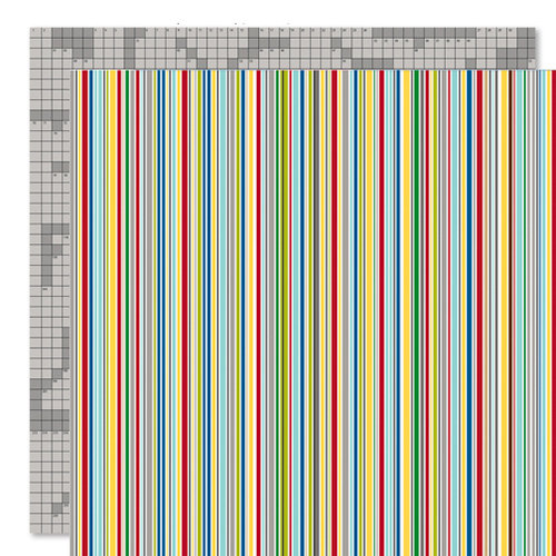 Bella Blvd - Mr. Boy Collection - 12 x 12 Double Sided Paper - Hyper Stripe