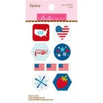 Bella Blvd - Fireworks and Freedom Collection - Epoxy Stickers - Icons
