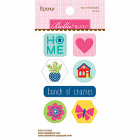 Bella Blvd - Home Sweet Home Collection - Epoxy Stickers - Icons