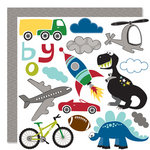 Bella Blvd - Mr. Boy Collection - 12 x 12 Double Sided Paper - Cute Cuts