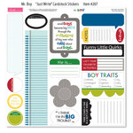 Bella Blvd - Mr. Boy Collection - 12 x 12 Cardstock Stickers - Just Write