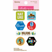 Bella Blvd - Let's Go On An Adventure Collection - Epoxy Stickers - Icons