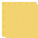 Bella Blvd - Sophisticates Collection - 12 x 12 Double Sided Paper - Sprinkles and Lace - Banana