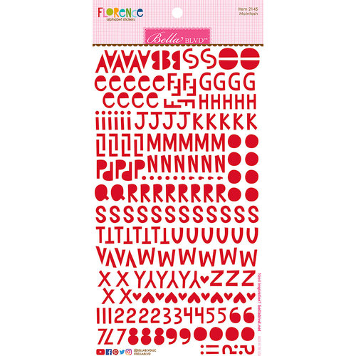 Bella Blvd - Legacy Collection - Florence Alphabet Stickers - McIntosh
