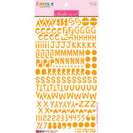 Bella Blvd - Legacy Collection - Florence Alphabet Stickers - Orange