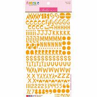 Bella Blvd - Legacy Collection - Florence Alphabet Stickers - Orange