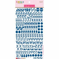 Bella Blvd - Legacy Collection - Florence Alphabet Stickers - Blueberry